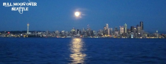 Seattle in the Moonlight                                                                                        From Elliott Bay 2012