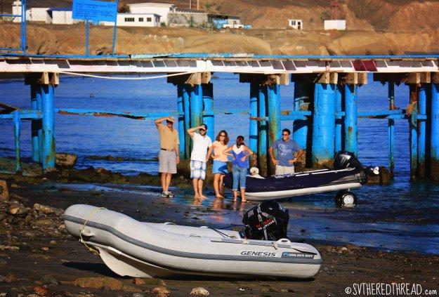 #Bahia de Tortugas_Dinghy drama