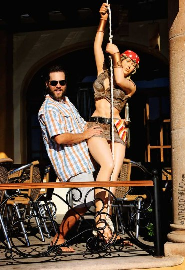 #Cabo San Lucas_Neil and dangling sailor woman