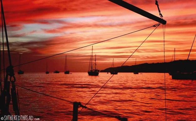 #La Cruz_Sunset at sv Tappan Zee