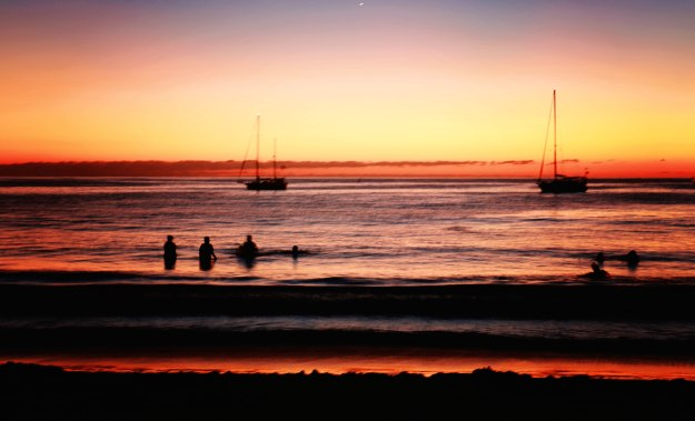 Chacala_Sundown o'er the anchorage