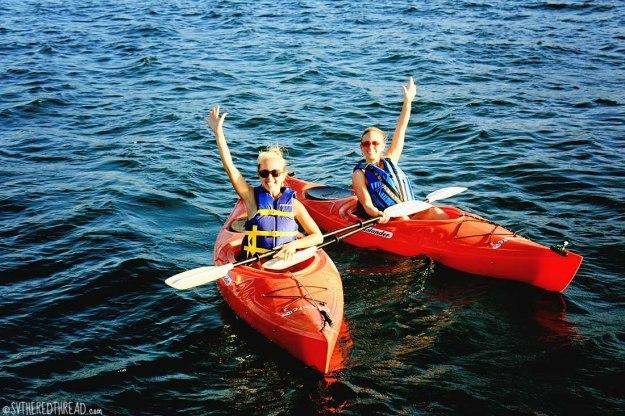 #Amy's 30th_Jess & Linds kayak