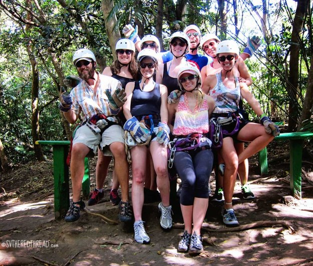 #Amy's 30th_Zipline crew