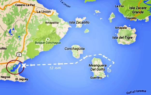 Meanguera to Tamarindo Estuary_Map