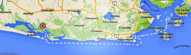 #Map_Fonseca to Barrillas, El Salvador
