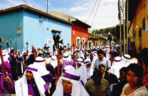 #Antigua_Semana Santa_Mass of penitents