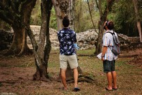 #Copan ruins_Tim + Neil spying cicadas