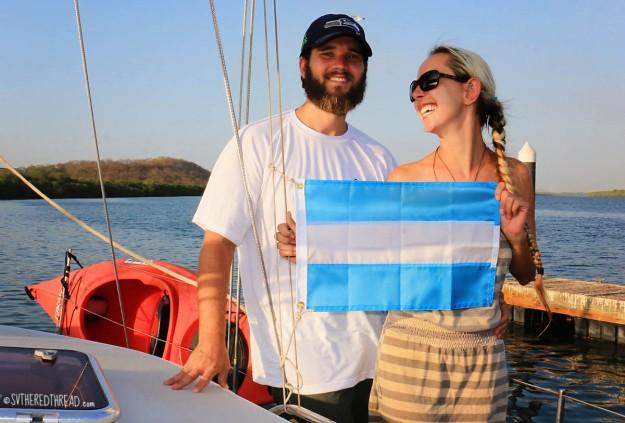 #Puesta del Sol, Nica_Courtesy flag N+J