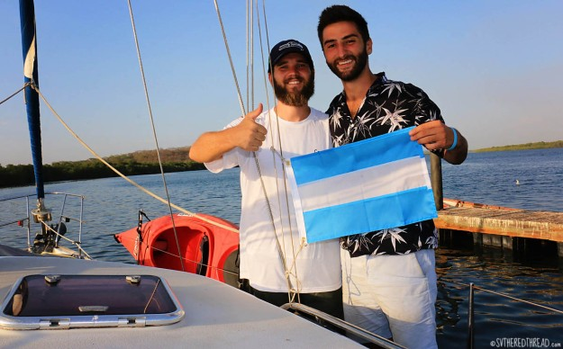 #Puesta del Sol, Nica_Courtesy flag Neil & Tim