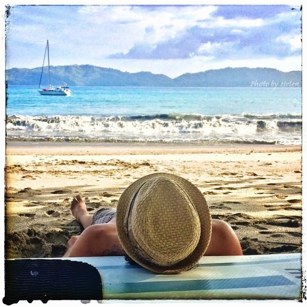 #Ballena beach_Neil snoozing