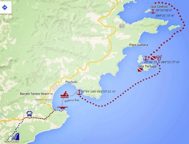 Isla Tortugas to Bahia Ballena_map