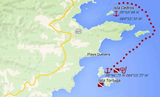 Isla Tortugas_map