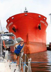 #Panama Canal_Gatun locks tanker_Jessie