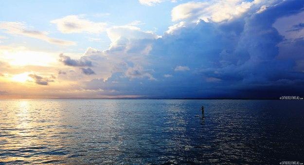 #Roca Bajo_Jessie sunset paddleboarding2