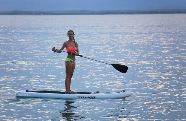 #Roca Bajo_Jessie sunset paddleboarding3a