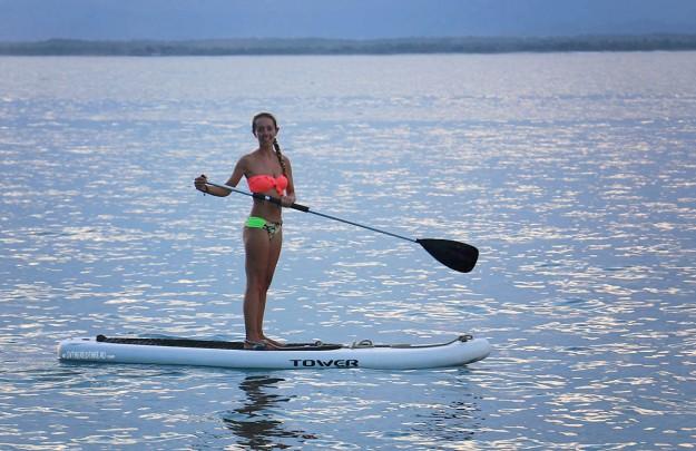 #Roca Bajo_Jessie sunset paddleboarding3a