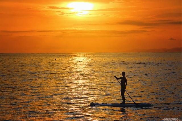 #Roca Bajo_Jessie sunset paddleboarding4