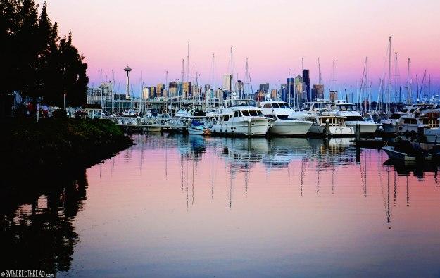 #Elliott Bay Marina_Rainbow reflection