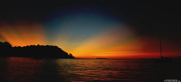 #Bahia Drake_Sunset over the peninsula+Coco