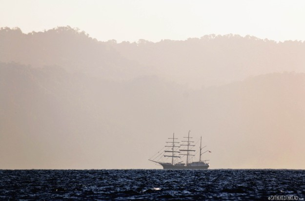 #Golfito, CR to Punta Balsa, Pan_Tallship at dawn