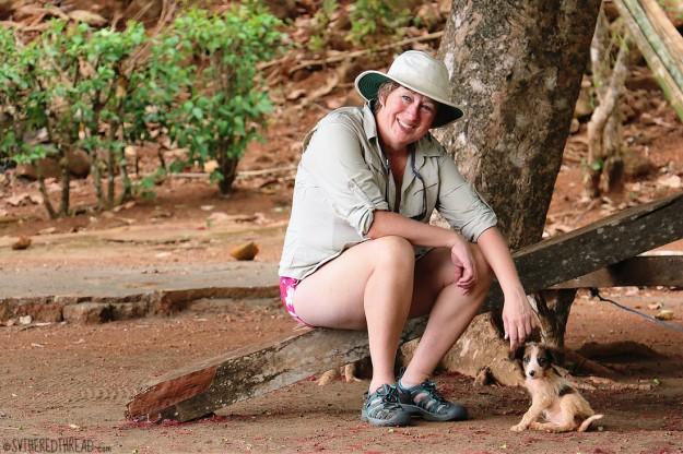 #Isla Parida, Panama_Lori + puppy