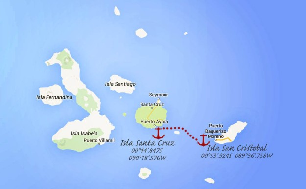 #Isla San Cristobal to Isla Santa Cruz_map