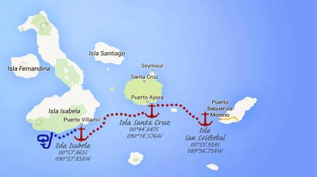 #Galapagos Isla Isabela_map